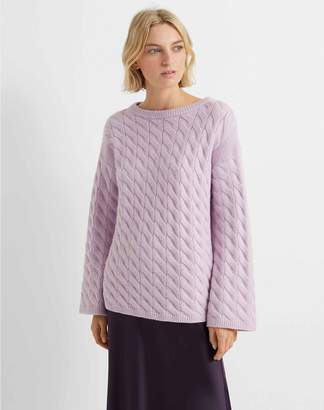 Club Monaco Cable-Knit Boatneck Sweater