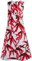 Marni Bamboo-print coated-poplin midi dress