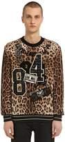 Dolce & Gabbana Leopard Brocade Sweatshirt W/ Patches
