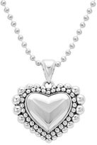 Lagos Caviar Beaded Heart Pendant Necklace