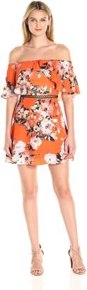 ABS by Allen Schwartz A B S By Allen Schwartz Women's Off-Shoulder Summer Floral Print Dress