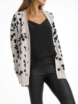 White + Warren Brushed Cashmere Jacquard Cardigan