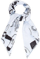 Carven Printed Woven Scarf