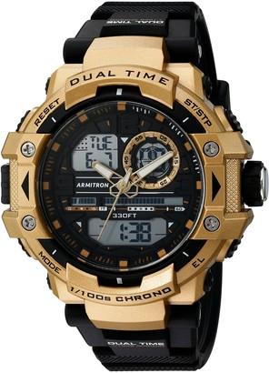 Armitron Sport Men's 20/5062BGD Analog-Digital Chronograph Gold-Tone and Black Resin Strap Watch