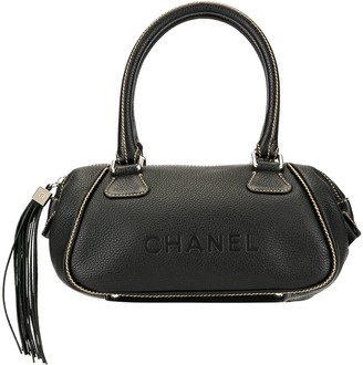 Chanel Pre Owned Hanging Tassel Logo Tote