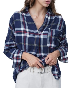 French Connection Stacci Cotton Plaid Shirt