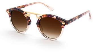 Krewe STL II Round Gradient Sunglasses, Tortoise