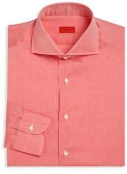 Isaia Regular-Fit Heathered Dress Shirt