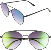 Quay Dragonfly 52mm Mirrored Aviator Sunglasses
