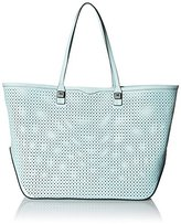 Rebecca Minkoff Everywhere with Diamond Perf Tote Bag, Light Mint, One Size