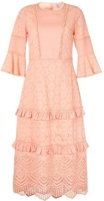 We Are Kindred Lua pin tuck midi dress