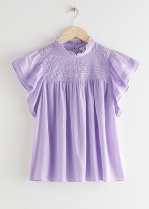 And other stories Frilled Lace Top