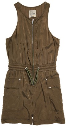 Superdry Cargo Pocket Playsuit with Fitted Waist
