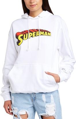 Dc Comics Women's Official Superman Telescopic Logo Hooded Sweatshirt Hoodie