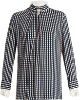 Preen by Thornton Bregazzi Neffs gingham-twill and lace blouse