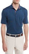 Peter Millar Crown Sport Solid Stretch Jersey Polo Shirt with Contrast Trim