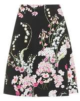 Giambattista Valli Floral-printed crêpe skirt
