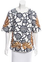 Dries Van Noten Sequin-Embellished Columbus Top w/ Tags