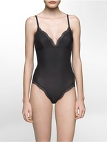 Calvin Klein Sheer Marquisette Lace Bodysuit