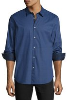 John Varvatos Slim-Fit Micro-Pattern Sport Shirt, Dark Blue