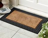Williams-Sonoma Basketweave Rubber & Coir Doormat
