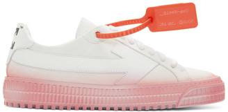Off-White White and Pink Degrade Arrows Sneakers
