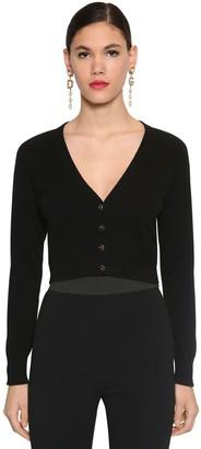 Dolce & Gabbana Cropped V Neck Cashmere Knit Cardigan