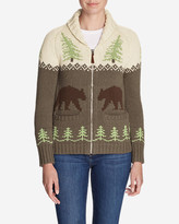 Eddie Bauer Women's Campfire Sweater Coat - Bears