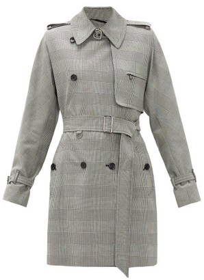 Max Mara Aloe Trench Coat - Womens - Black White