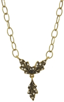 Cathy Waterman Three Diamond Leaf Necklace - Yellow Gold