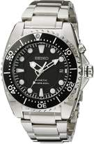 Seiko Men's Kinetic Dive -Tone Watch Black SKA371