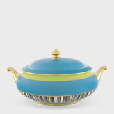 Paul Smith for Thomas Goode - Turquoise Bone-China Covered Dish
