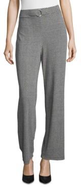 John Paul Richard Herringbone-Print Wide-Leg Pants