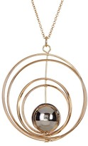 Stephan & Co Orbiting Ball Ring Pendant Necklace