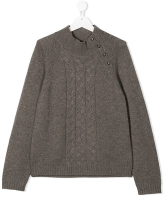 Bonpoint TEEN cable-knit cashmere jumper