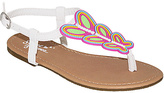 Sweet White & Pink Butterfly Sandal