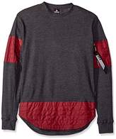 Southpole Men's Long Sleeve Scallop Thermal With Utility Detail and Zippered Chest Pocket