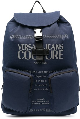 Versace Jeans Couture Logo-Print Buckle Backpack