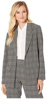 Liverpool Boyfriend Novelty Knit Blazer (Black/White/Mustard) Women's Jacket