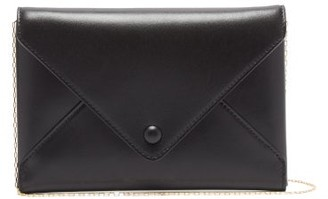The Row Envelope Small Leather Clutch - Womens - Black