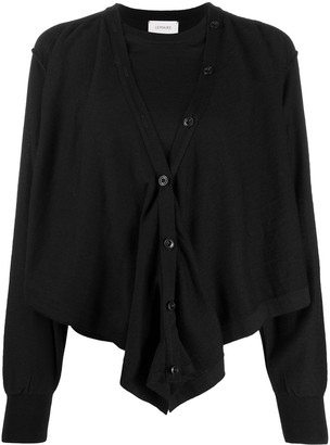 Lemaire Layered Fine-Knit Cardigan