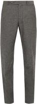 Boglioli Mid-rise slim-leg silk and linen-blend trousers