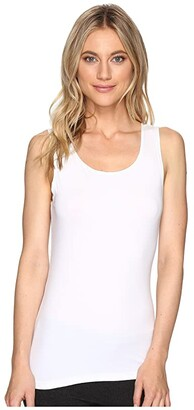 Hanky Panky Cotton with a Conscience Scoop Neck Tank Top (White) Women's Sleeveless