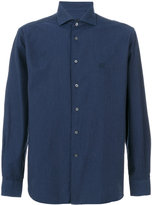 Corneliani logo chest embroidery shirt - men - Cotton - 39