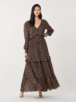 Diane von Furstenberg Winnie Silk-Metallic Gown