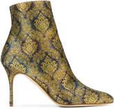 Manolo Blahnik Insopo floral brocade 100 boots