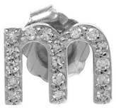 KC Designs Rose Gold Diamond M Single Stud Earring