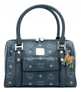 MCM Boston Black Leather Handbags