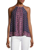 Joie Bradie Sleeveless Halter Silk Top