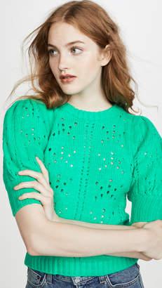 For Love & Lemons Brooke Pointelle Sweater